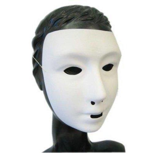 PartyXplosion Masker - Grimeermasker - Kalklaag - Wit