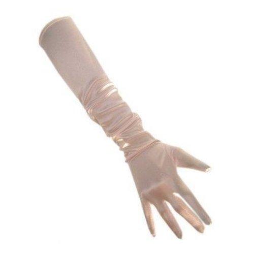 PartyXplosion PartyXplosion - Handschoenen - Lichtroze - Satijn - 48cm