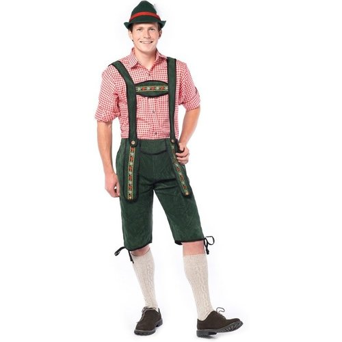 Partychimp Partychimp - Kostuum - Tirolerbroek - Johann - Groen - L