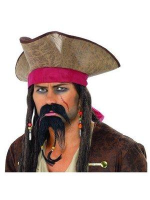 Smiffys Smiffys - Baard & snor - Piraat