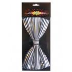 PartyXplosion PartyXplosion - Strik - Streep - Zwart met zilver - 14x7.5cm