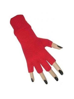 PartyXplosion Handschoenen - Rood - Vingerloos