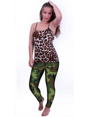 PartyXplosion PartyXplosion - Legging - Camouflageprint - S/M*