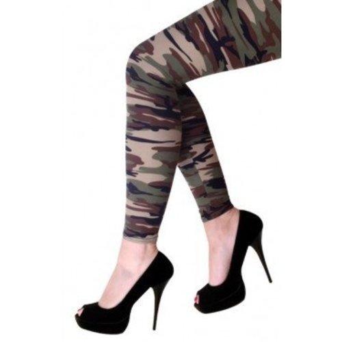 PartyXplosion PartyXplosion - Legging - Camouflage - Volwassenen