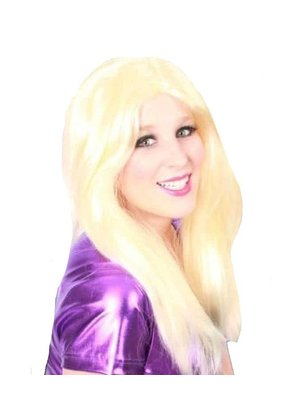 PartyXplosion Pruik - Blond - Gigi - Lang - Met scheiding
