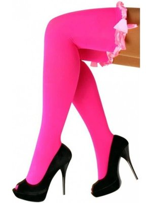 PartyXplosion PartyXplosion - Stay up kousen - Met strik - Fluor roze