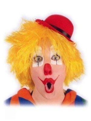 PartyXplosion Pruik - Geel - Clown