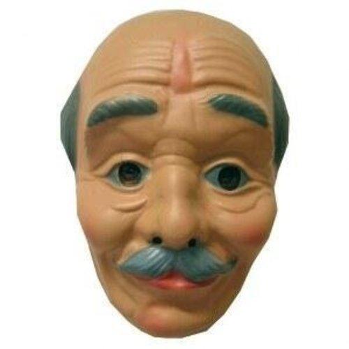 PartyXplosion Masker - Opa - Kaal hoofd met snor