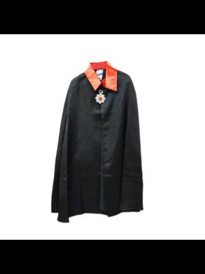 Partychimp Cape - Dracula - Zwart / rood - Met ketting - mt.116