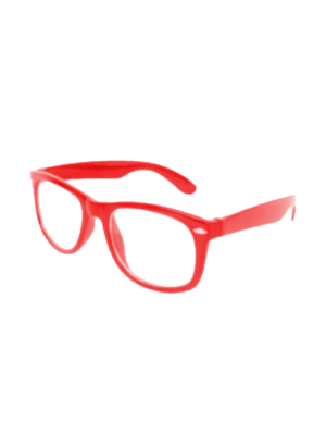 PartyXplosion Bril - Blues Brother - Rood/Blank glas