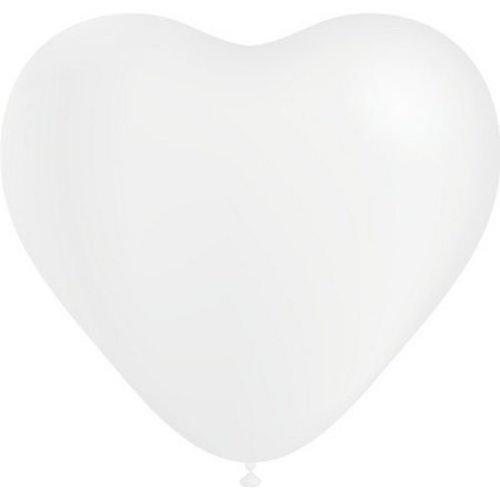 Qualatex Qualatex - Ballonnen - Hartjes - Wit - 38cm - 50st.
