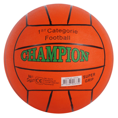 Champion - Bal - Voetbal - Rubber - 380gr. - 1 stuks - Willekeurig geleverd