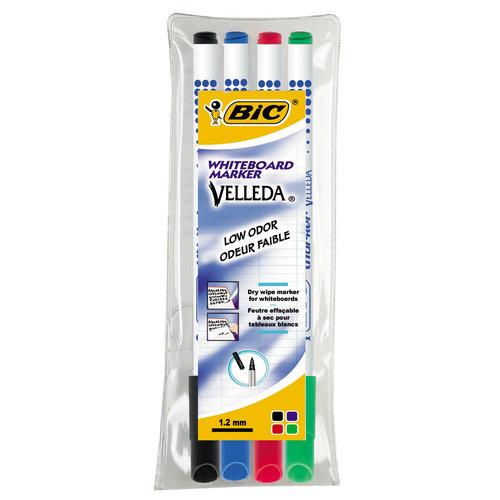 Bic - Velleda - Whiteboard markers - 4 kleuren - 1.5mm