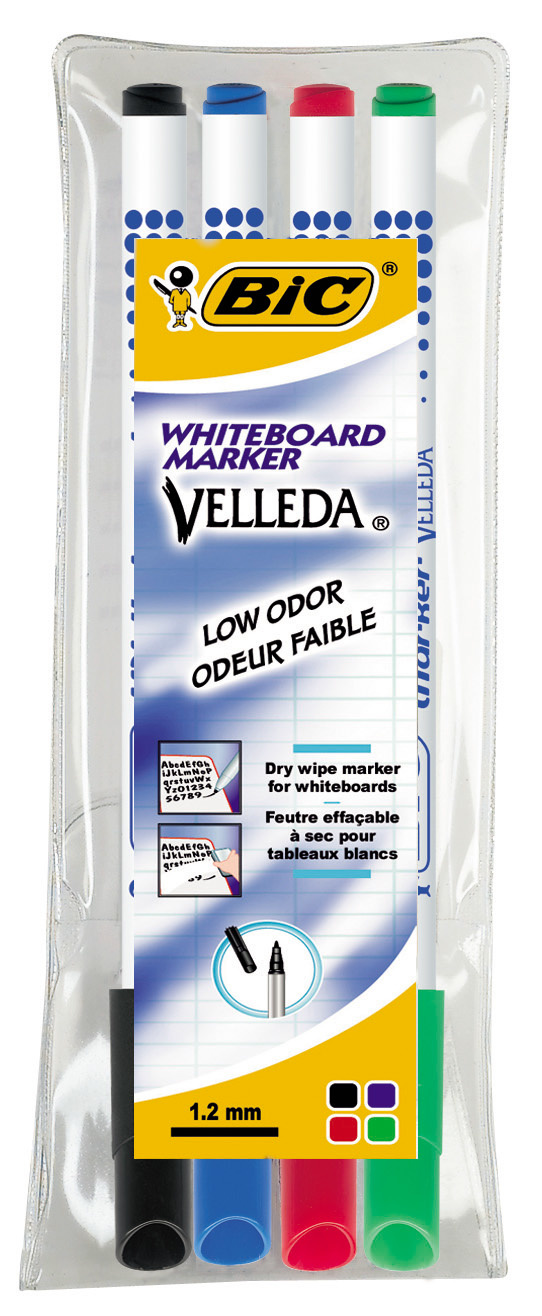 Whiteboard markers - 4 kleuren - 1.5mm