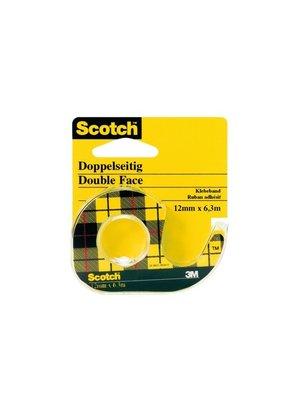 3M - Scotch - Dubbelzijdig plakband - 12mm x 6,3m - Met houder