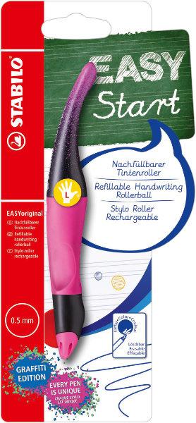 Pen - Voor linkshandige - Stabilo - Magenta roze - in Schrijfwaren