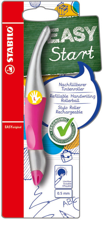 Pen - Voor linkshandige - Stabilo - Roze - in Schrijfwaren