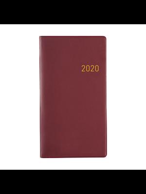 1234feest Clipper - Agenda - 2020 - Euroselect - Zakagenda - Donkerrood