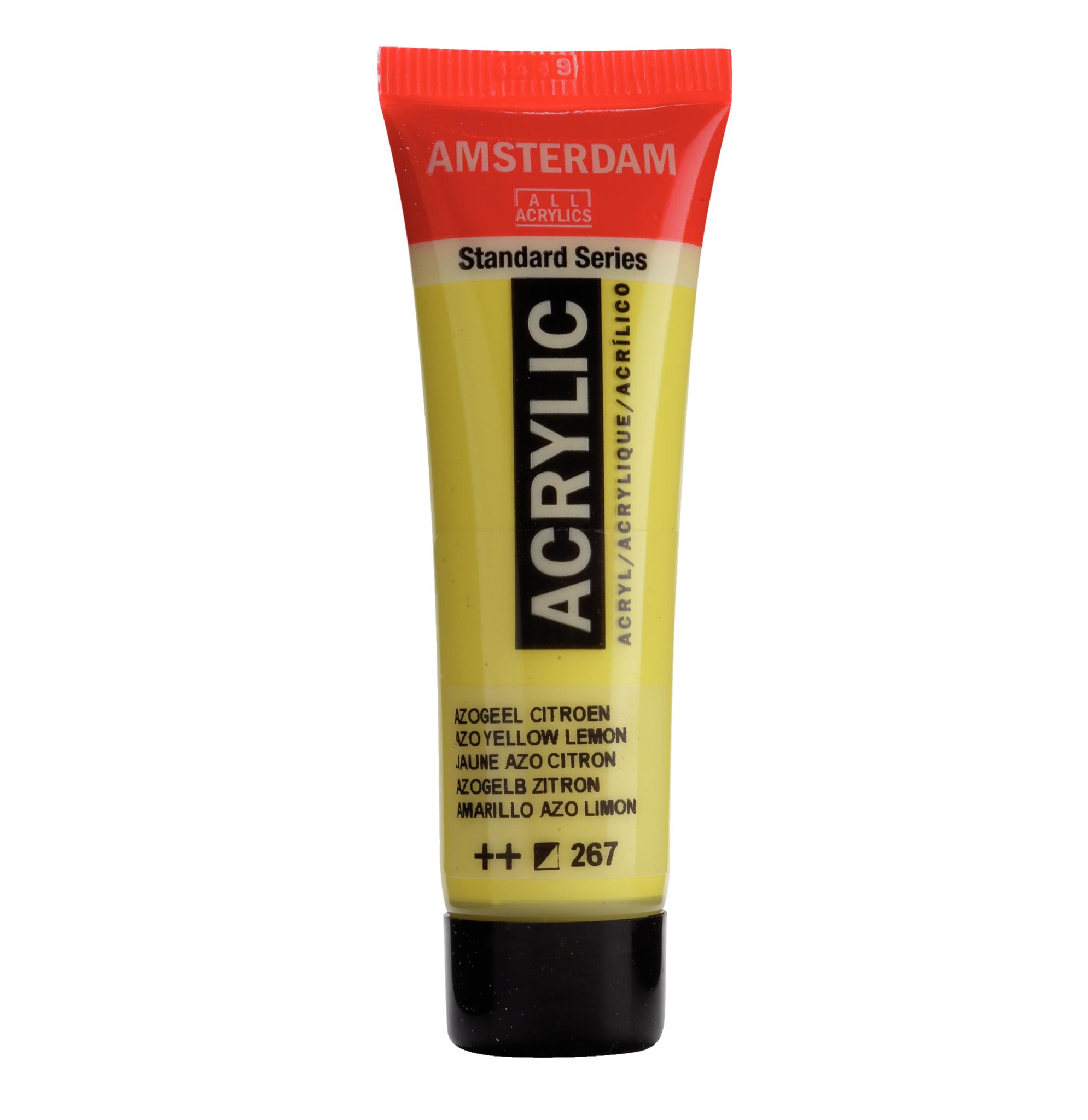 Acrylverf - Azo geel citroen - 267 - Amsterdam - 20ml