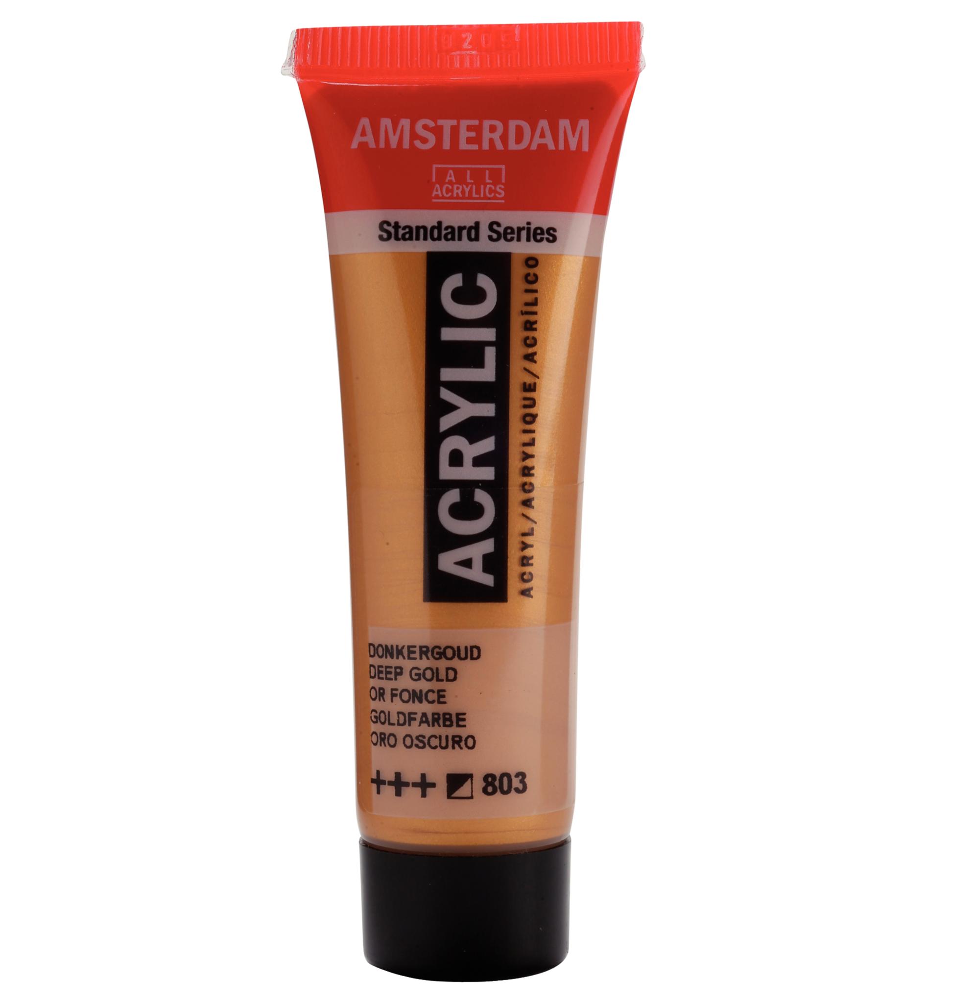 Acrylverf - 803 - Donker goud - Amsterdam - 20ml