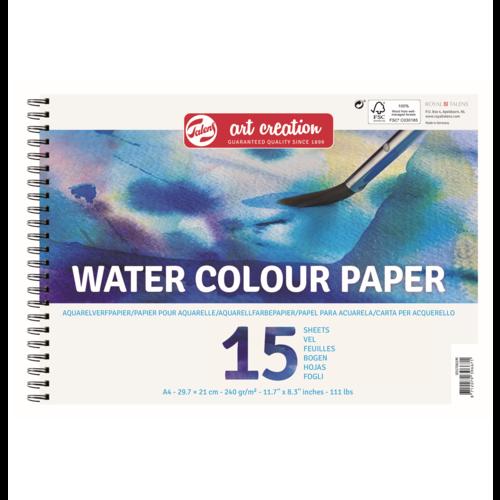 Talens Talens - Art Creation -  Aquarel Papier - A4 - 250g - 15 vellen - FSCM80
