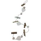 Cotton Counts Cotton Counts - Decoratie slinger - Voor de liefste juf- Met 3 harten - Lengte 1m