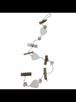 Cotton Counts Decoratie slinger - Voor de liefste juf- Met 3 harten - 1m