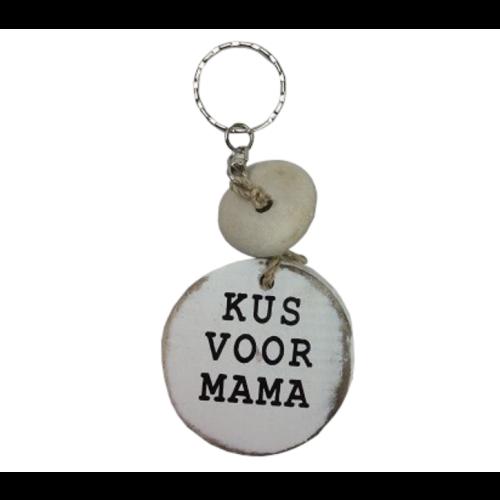 Cotton Counts Cotton Counts - Sleutelhanger - Hout - Kus voor mama