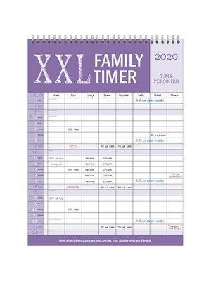 Comello Comello - Familieplanner - Family timer XXL - 2020 - 44x33cm