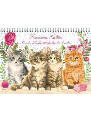 Comello Comello - Familienotitiekalender - Franciens katten - 2020 - 29,7x21cm
