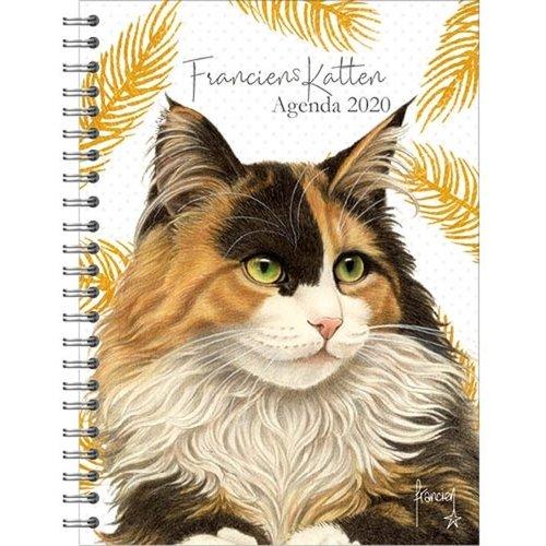 Comello Comello - Bureau-agenda - Franciens Katten - Noortje - Harde kaft - 2020 - 16x23