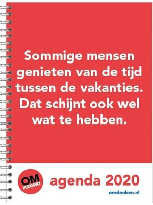 Comello Comello - Bureau-agenda - Omdenken - Zachte kaft - 2020 - 17x23