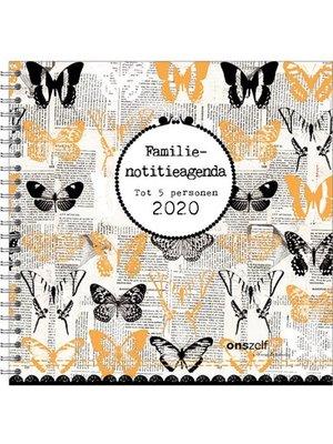 Comello Familienotitieagenda - Studio Onszelf - Vlinders - Harde Kaft - 2020 - 19x19cm