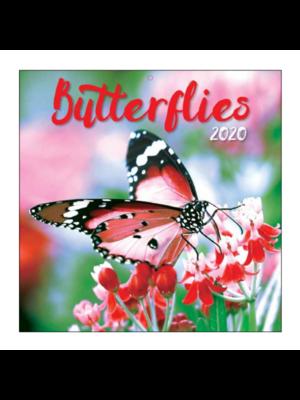 Comello Comello - Maandkalender - Butterflies - 2020 - 30x30