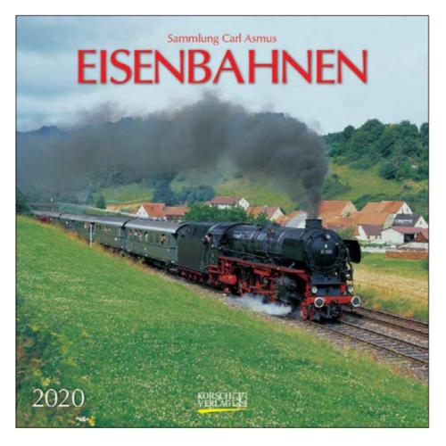 Comello Maandkalender - Trains - 2020 - 30x30