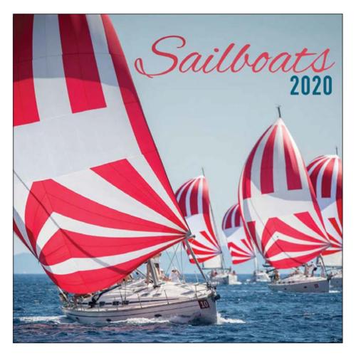 Comello Maandkalender - Sailboats - 2020 - 30x30