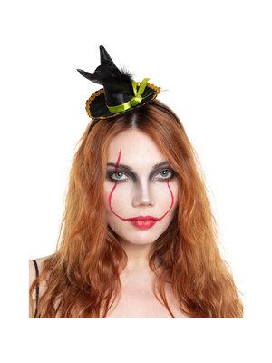 Folat Folat - Diadeem - Halloween - Heksenhoed met veer