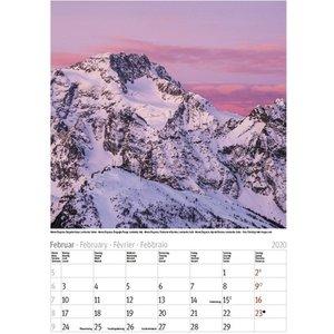 Comello - Maandkalender - Alpen - 23 x 33