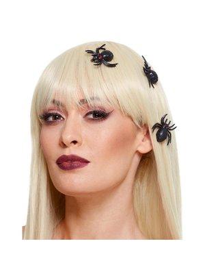 Smiffys Haarclip - Spinnen - Zwart - 3st.
