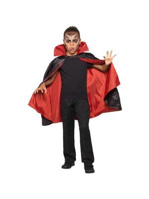 Smiffys Cape - Vampier - Omkeerbaar - Rood / zwart