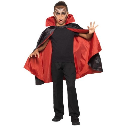 Smiffys Cape - Vampier - Omkeerbaar - Zwart & rood