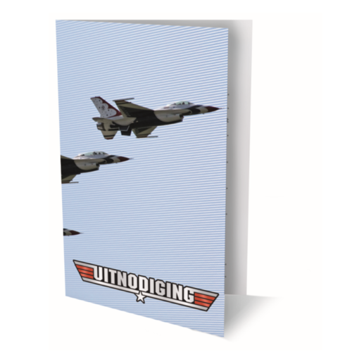 Interstat Interstat -  Uitnodigingskaarten - F16 straaljager - 6st.