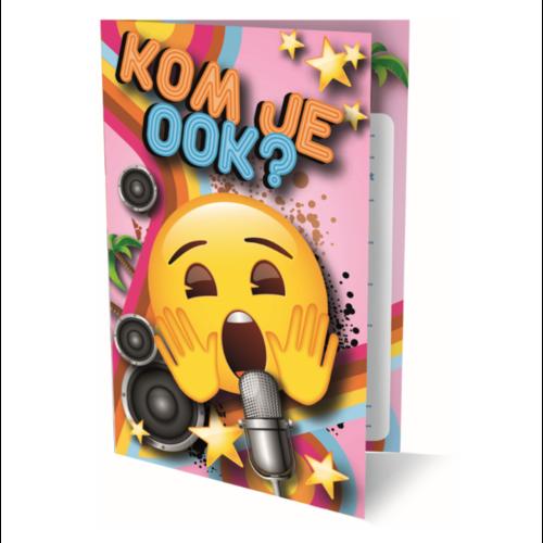 Interstat Interstat - Uitnodigingskaarten - Emoji - Kom je ook - 6st.