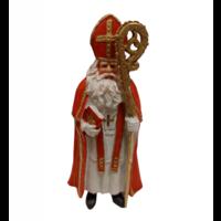 EH - Souvenir - Beeldje - Sinterklaas met staf en boek - Polystone - 18cm