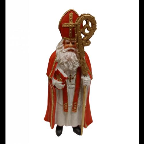 EH EH - Souvenir - Beeldje - Sinterklaas met staf en boek - Polystone - 18cm