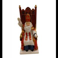 EH - Souvenir - Beeldje - Sinterklaas op zijn zetel - Polystone - 18cm