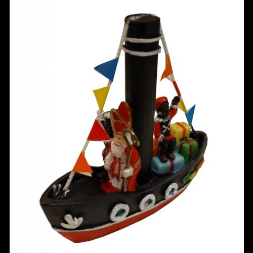 EH EH - Souvenir - Beeldje - Stoomboot van Sinterklaas en Pieten - Polystone - 10cm