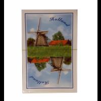 Speelkaarten - Kaartspel - Holland - Molens - Rood 'of' blauw - 1st. - Willekeurig geleverd