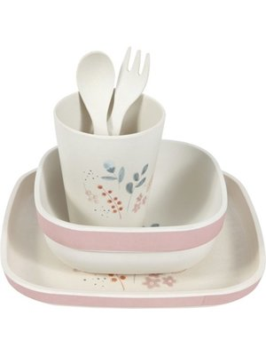 Little Dutch Little Dutch - Eetset - Bamboe - Roze
