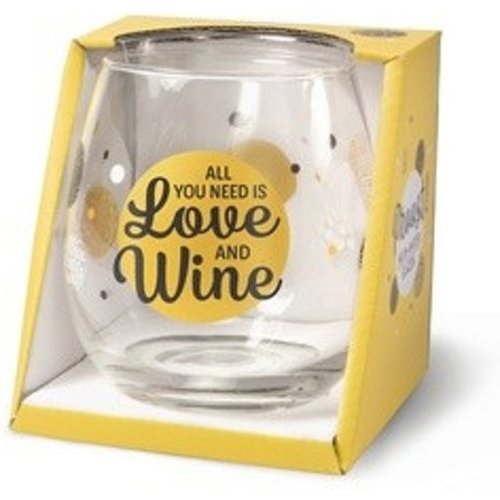 Miko Glas - Water- & wijnglas - All you need is love and wine